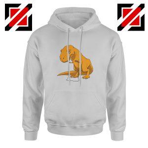 Tyrannosaurus Rex Hoodie Animal Fitness Hoodie Size S-2XL Sport Grey