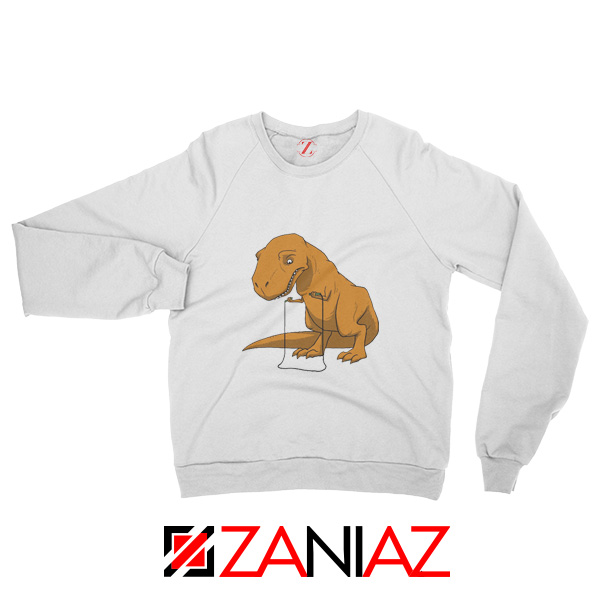 Tyrannosaurus Rex Sweatshirt Animal Fitness Sweatshirt Size S-2XL White