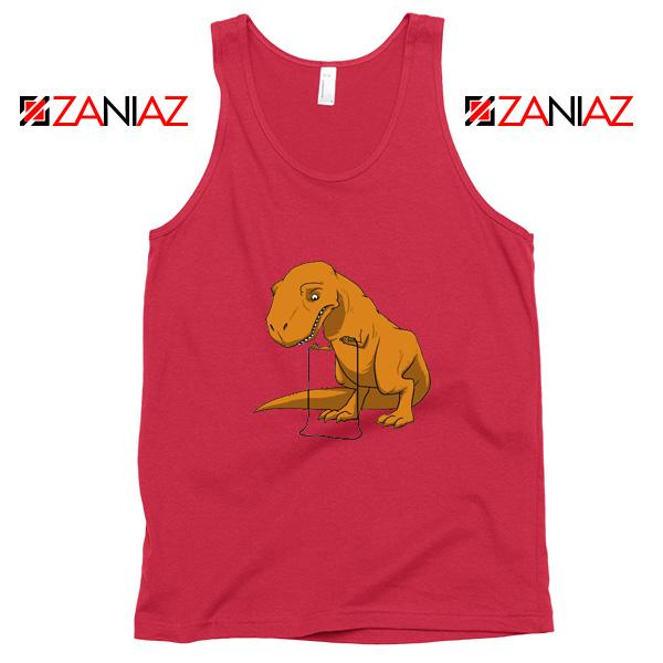 Tyrannosaurus Rex Tank Top Animal Fitness Tank Top Size S-3XL Red