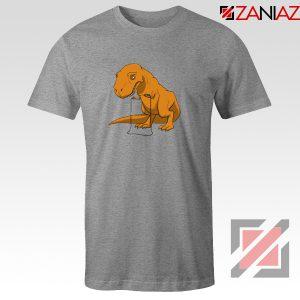 Tyrannosaurus Rex Tee Shirt Animal Fitness Tshirt Size S-3XL Sport Grey