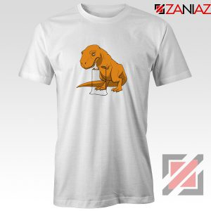 Tyrannosaurus Rex Tee Shirt Animal Fitness Tshirt Size S-3XL White