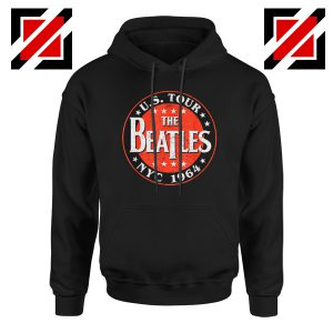 US Tour NYC 1964 Hoodie The Beatles Band Hoodie Size S-2XL Black