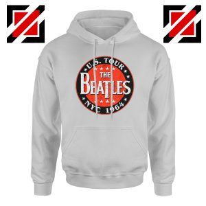 US Tour NYC 1964 Hoodie The Beatles Band Hoodie Size S-2XL Sport Grey