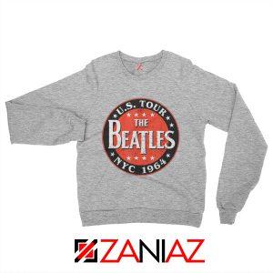 US Tour NYC 1964 Sweatshirt The Beatles Band Sweatshirt Size S-2XL Sport Grey