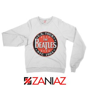 US Tour NYC 1964 Sweatshirt The Beatles Band Sweatshirt Size S-2XL White