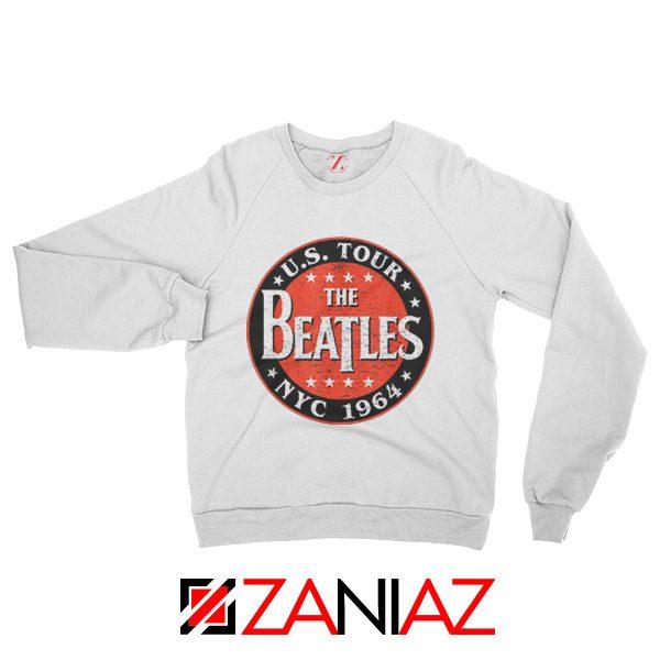 US Tour NYC 1964 Sweatshirt The Beatles Band Sweatshirt Size S-2XL White