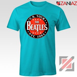 US Tour NYC 1964 T-shirt The Beatles Band Tee Shirt Size S-3XL Light Blue
