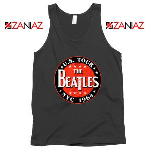US Tour NYC 1964 Tank Top The Beatles Band Tank Top Size S-3XL Black