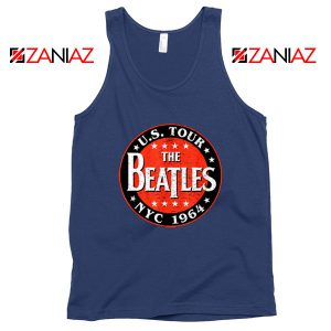 US Tour NYC 1964 Tank Top The Beatles Band Tank Top Size S-3XL Navy Blue
