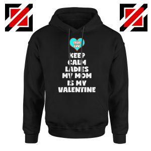 Valentines Hoodie for Boys My Valentine Funny Couples Best Hoodie Black