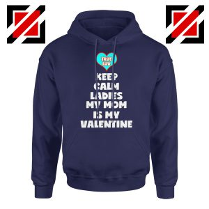 Valentines Hoodie for Boys My Valentine Funny Couples Best Hoodie Navy Blue