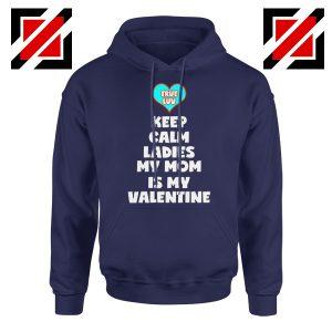 Valentines Hoodie for Boys My Valentine Funny Couples Best Hoodie Navy Blue