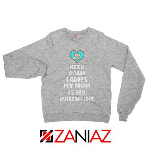 Valentines Sweatshirt for Boys My Valentine Funny Couples Sweatshirt Sport Grey