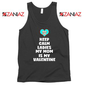 Valentines Tank Top for Boys My Valentine Funny Couples Tank Top Black