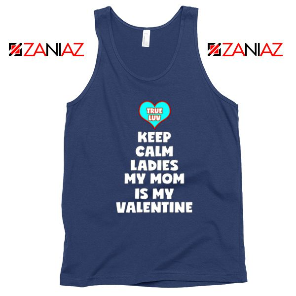 Valentines Tank Top for Boys My Valentine Funny Couples Tank Top Navy Blue