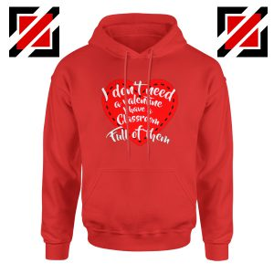 Valentines Teacher Hoodie Funny Couples Valentine Hoodie Size S-2XL Red