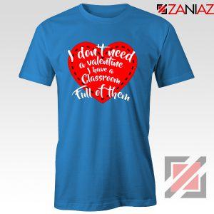 Valentines Teacher T-shirt Funny Couples Valentine T-shirt Size S-3XL Light Blue