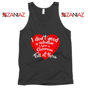 Valentines Teacher Tank Top Funny Couples Tank Top Size S-3XL Black