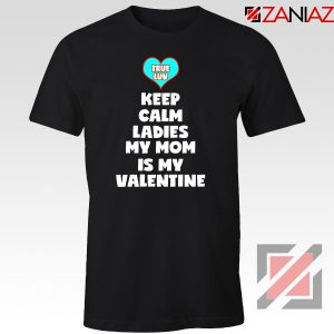 Valentines Tshirt for Boys My Valentine Funny Couples Best Tee Shirt Black