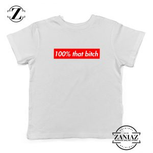 100% That Bitch Box Kids Shirt Lizzo Concert Youth T-Shirt Size S-XL White
