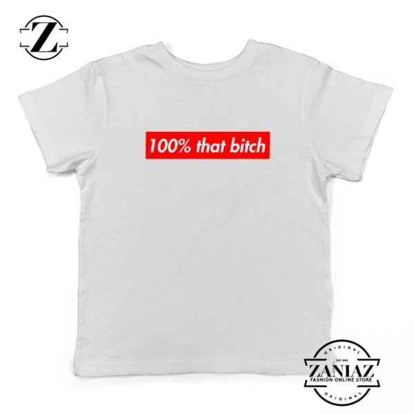 100% That Bitch Box Kids Shirt Lizzo Concert Youth T-Shirt Size S-XL White