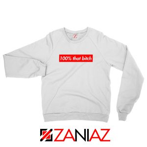 100% That Bitch Box Sweatshirt Lizzo Concert Sweatshirt Size S-2XL White