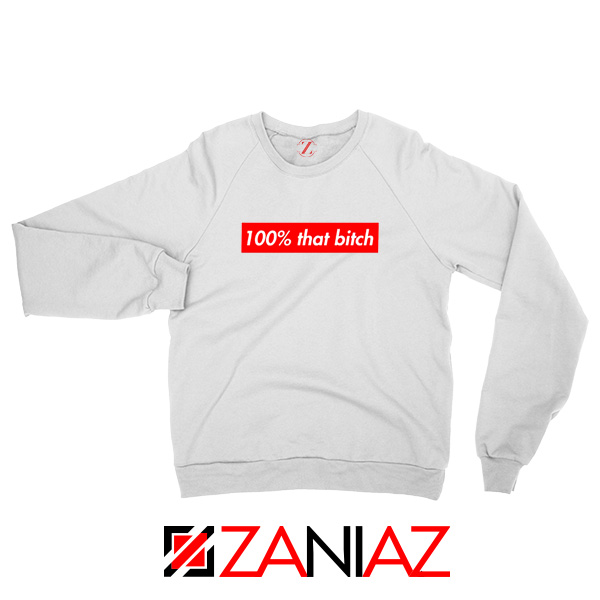 100% That Bitch Box Sweatshirt Lizzo Concert Sweatshirt Size S-2XL White