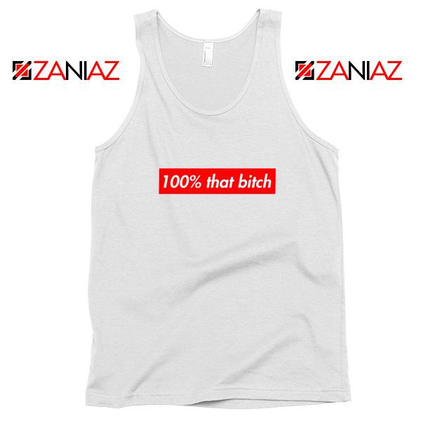 100% That Bitch Box Tank Top Lizzo Concert Tank Top Size S-3XL White