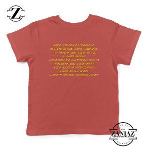 Skywalker Saga Films Kids Shirts Star Wars Saga Films Youth T-Shirt Red