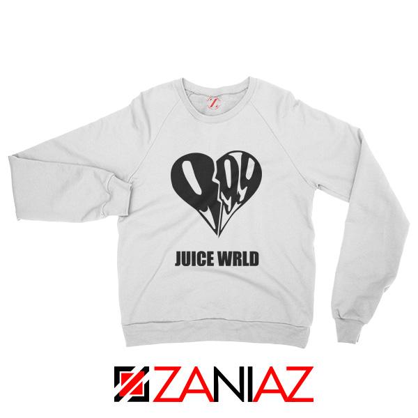 999 Heart WRLD Sweatshirt Juicer Rapper Sweatshirt Size S-2XL White