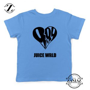 999 Heart WRLD Youth Shirts Juice Rapper Kids T-Shirt Size S-XL