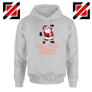 Awesome Christmas Hoodie Ugly Christmas Best Hoodie Size S-2XL Sport Grey