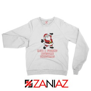 Awesome Christmas Sweatshirt Ugly Christmas Sweatshirt Size S-2XL White