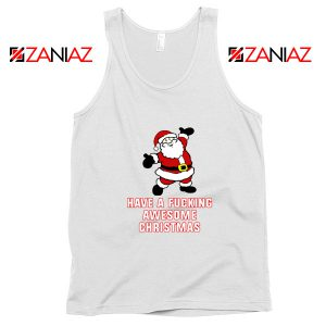 Awesome Christmas Tank Top Ugly Christmas Tank Top Size S-3XL White