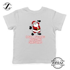 Awesome Christmas Youth T-Shirt Ugly Christmas Kids T-Shirt White