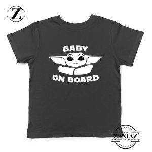 Baby On Board The Mandalorian Kids Shirt Baby Yoda Youth Shirts