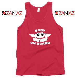 Baby On Board The Mandalorian Tank Top Baby Yoda Tank Top Red