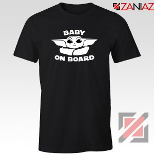 Baby On Board The Mandalorian Tee Shirt Baby Yoda T-Shirt Size S-3XL