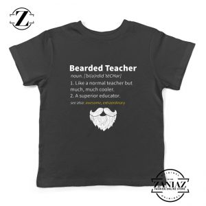 Bearded Teacher Kids Shirts Male Teacher Gifts For Him Youth T-Shirt