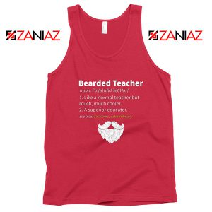 Bearded Teacher Tank Top Male Teacher Gifts For Him Tank Top Red