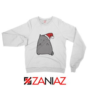Buy Christmas Kitty Sweatshirt Ugly Christmas Sweatshirt Size S-2XL White