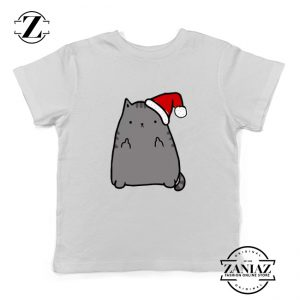 Buy Christmas Kitty Youth T-Shirt Ugly Christmas Kids T-shirt White