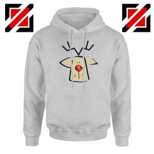 Buy Christmas Reindeer Hoodie Ugly Christmas Hoodie Size S-2XL Sport Grey