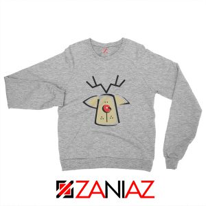 Buy Christmas Reindeer Sweatshirt Ugly Christmas Sweatshirt Size S-2XL Sport Grey