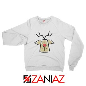 Buy Christmas Reindeer Sweatshirt Ugly Christmas Sweatshirt Size S-2XL White
