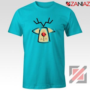 Buy Christmas Reindeer Tee Shirt Ugly Christmas T-Shirt Size S-3XL Light Blue