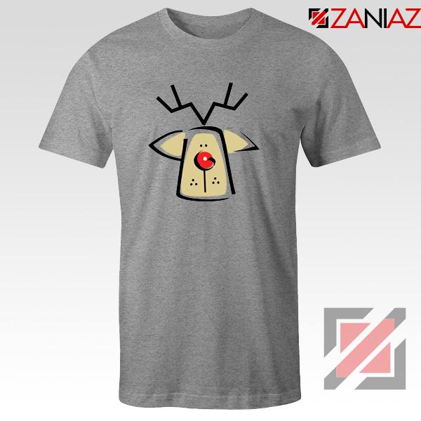 Buy Christmas Reindeer Tee Shirt Ugly Christmas T-Shirt Size S-3XL Sport Grey