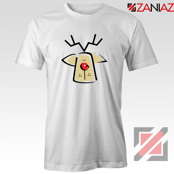 Buy Christmas Reindeer Tee Shirt Ugly Christmas T-Shirt Size S-3XL White