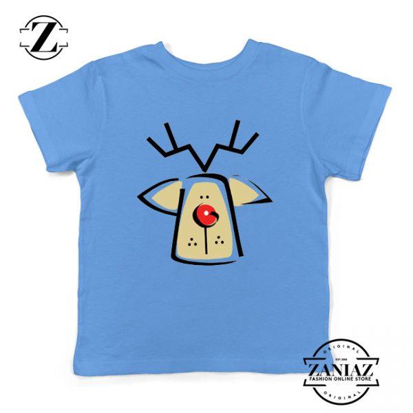 Buy Christmas Reindeer Youth T-Shirt Ugly Christmas Kids Shirt Blue