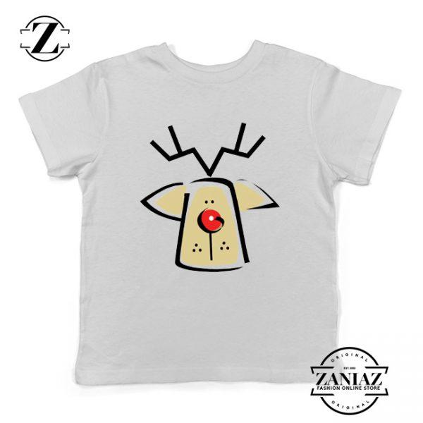 Buy Christmas Reindeer Youth T-Shirt Ugly Christmas Kids Shirt White